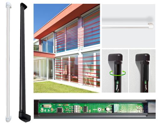 Barriera ottica elettronica incorporata meccanica orientabile -WSA TOP HR