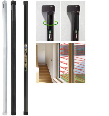 Barriere ottiche filari con elettronica incorporata top - Barriere infrarossi per finestre ...